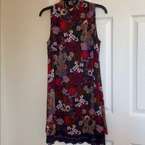 Crochet Detail Floral Dress